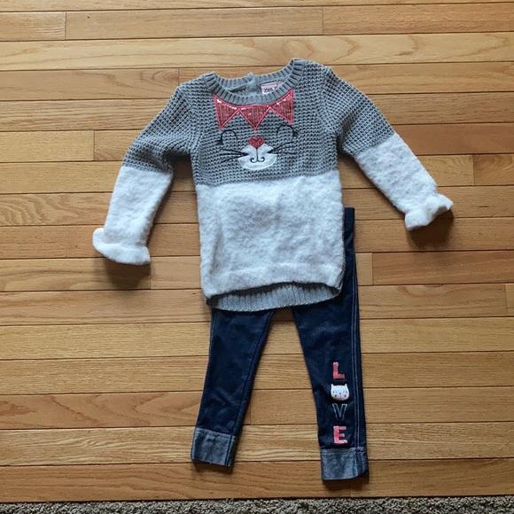 Little Girls Kitten Outfit-2T Never worn!